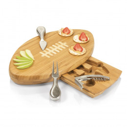 Custom Engrave Quarterback Deluxe Cutting Board Cheese Tools