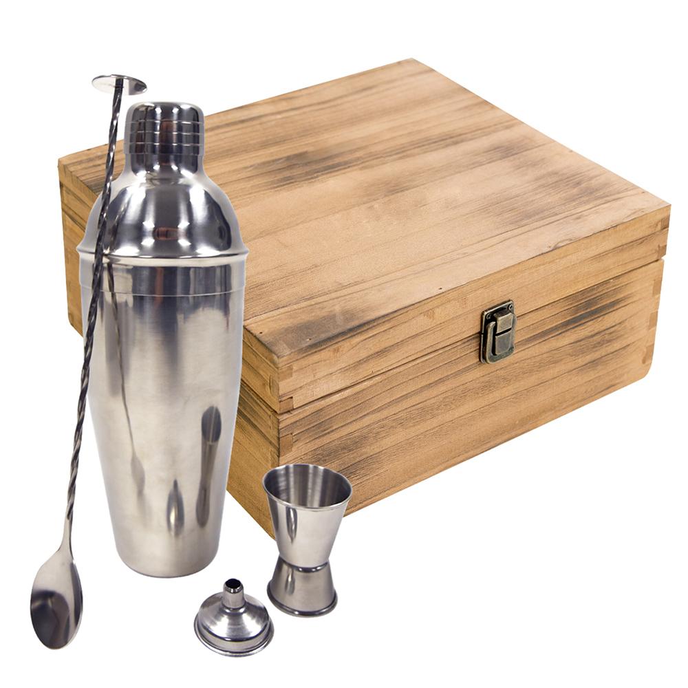 Custom 25 oz. Stainless Steel Cocktail Gift Set