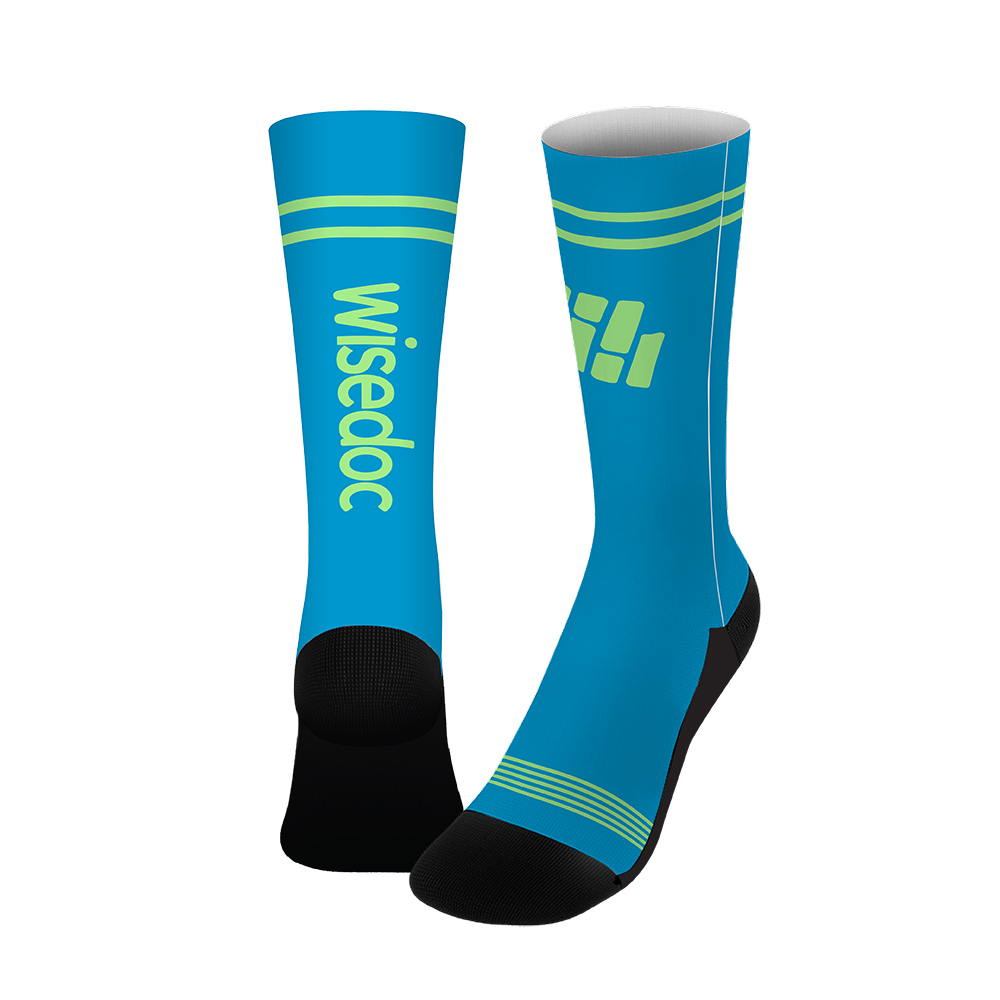 "18"" Dye-Sublimated Socks (Pair) Custom Mailer Kit"