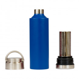 Custom Stainless Steel Insulated Infuser Bottle w/ Full Wrap Print, 18oz