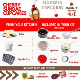 Cherry Sundae Cupcake Kit