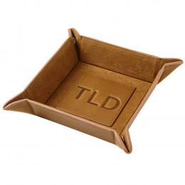 Custom Leather Travel Snap Valet w/ Logo