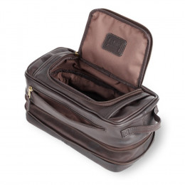 Custom Expandable Leather Toiletry Case