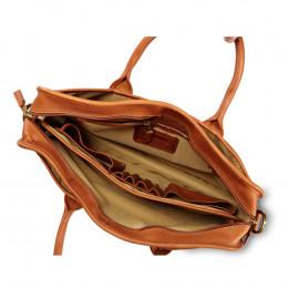 Custom Top Handle Leather Briefcase