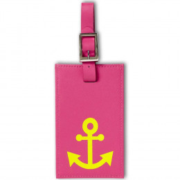 Custom Leather Luggage Tag with Anchor