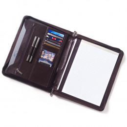 Custom Extreme File Leather Padfolio