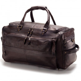 Custom Multi Compartment Leather Duffel Bag