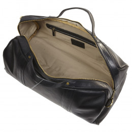Custom Leather Round Roadster Duffel Bag