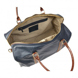 Leather XL Duffel Bag with Laptop Case (Optional Engraving)