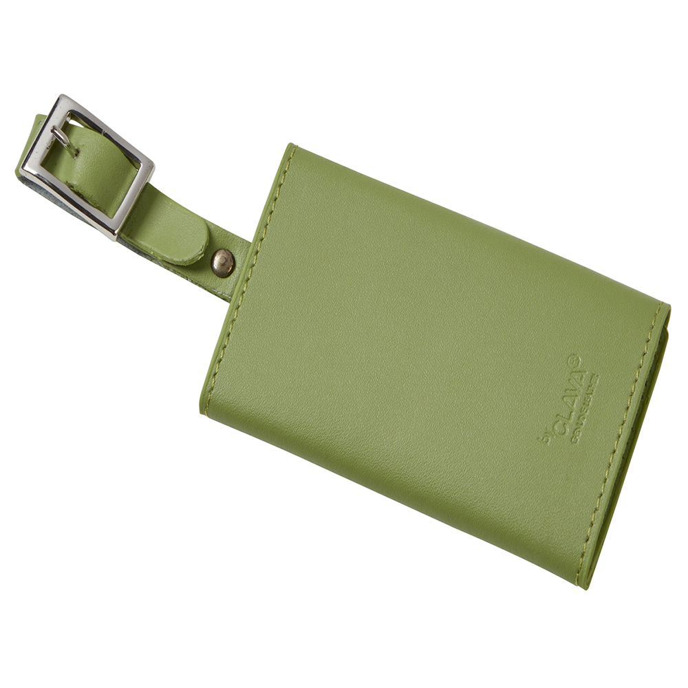 Snap Close Leather Luggage Tag (Optional Engraving)