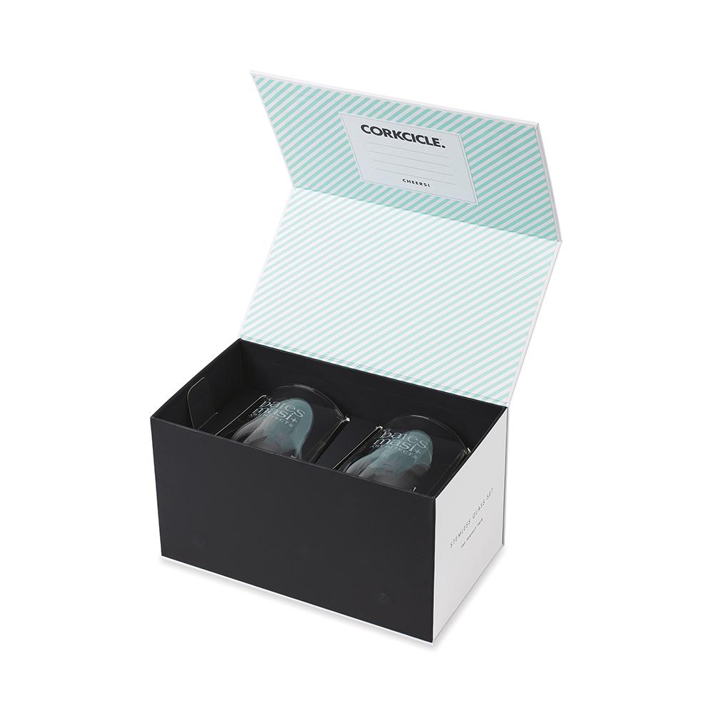 Custom CORKCICLE® Stemless Glass Set (2)