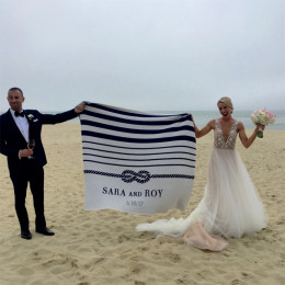 Personalized ''Tie The Knot'' Eco Throw