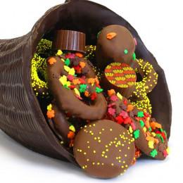 Chocolate Thanksgiving Large Cornucopia