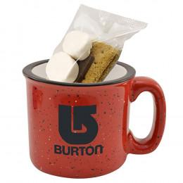 Custom 15 Oz. Camping Mug S'mores Kit