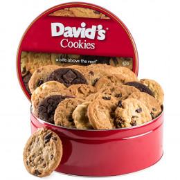David's Cookies Fresh Baked Decadent Jumbo Cookies Tin