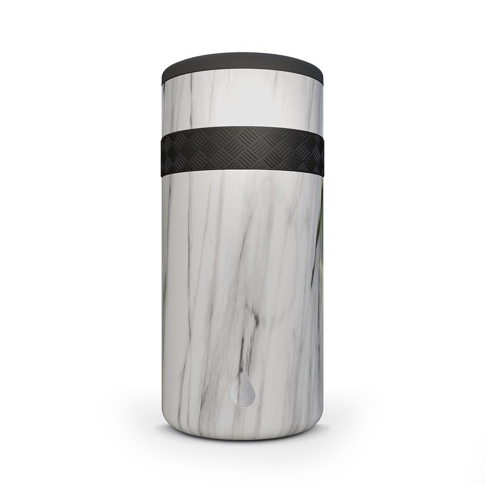 Elemental 12oz Recess Slim Can Cooler - 1 Color Imprint