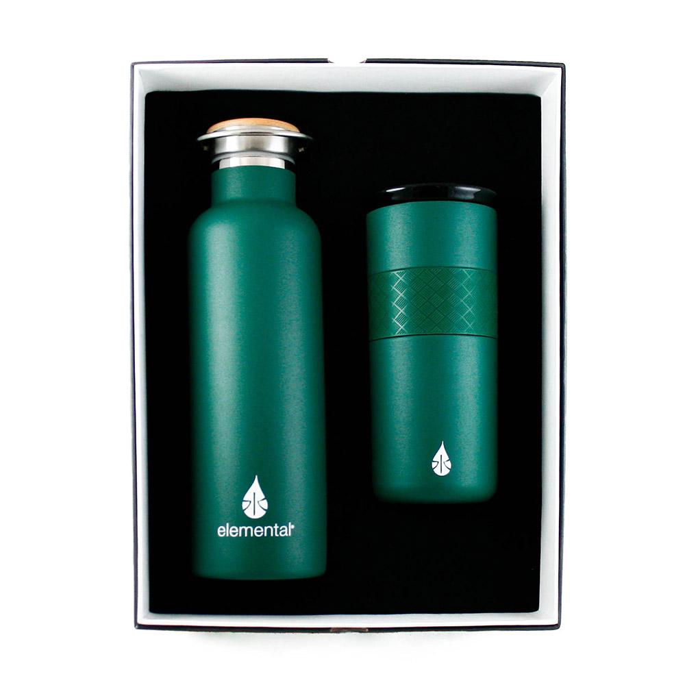 Elemental Water Bottle and Tumbler Gift Set - Full-Color Imprint