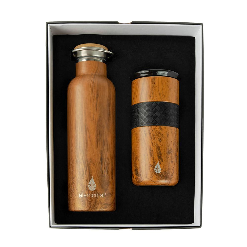 Elemental Water Bottle and Tumbler Gift Set - 1 Color Imprint