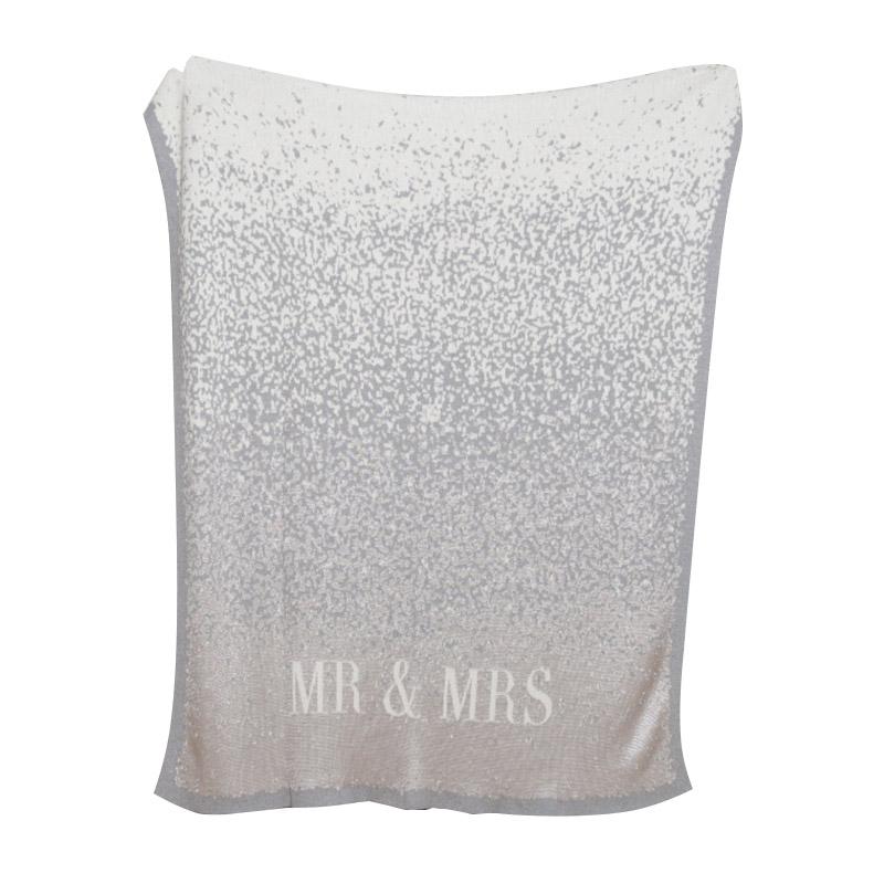 ''Mr. & Mrs.'' Glitter Confetti Eco Throw Blanket