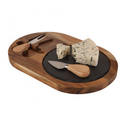 Custom Bon Appetit Slate Cheese Set