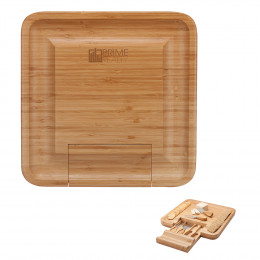 Custom Lorenzi 4-Piece Bamboo Cheese Tray