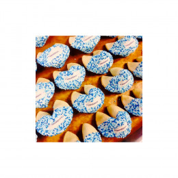 Custom Fortune Cookies -12pc. Clear Take-out Pail with Theme Message