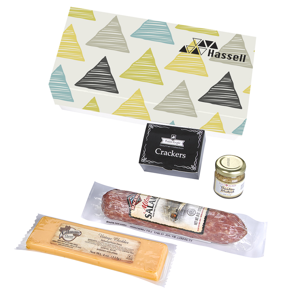 Custom Meat and Cheese Charcuterie Gift Box