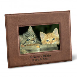 Personalized Leatherette 5x7 Picture Frame