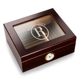 Personalized Corporate Glass Top Humidor