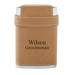 Personalized Dewsbury Flask and Shot Set with 3 Steel Shot Glasses