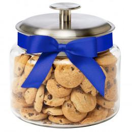 Custom Glass Cookie Jar with Chocolate Chip Cookies