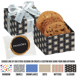 Gourmet Chocolate Chunk Cookie Trio with Customized Gift Box