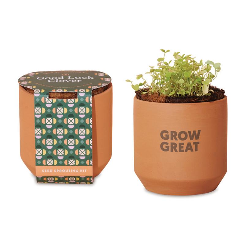 Custom Modern Sprout® Tiny Terracotta Grow Kit