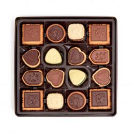 Godiva Assorted Chocolate Biscuit Tin, Wine Ribbon, 46 pc.