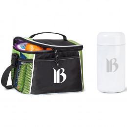 Custom Bistro Box Cooler and Thermal Food Jar Set