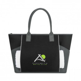 Custom Zip-Top Everyday Cotton Tote with Padded Double Straps