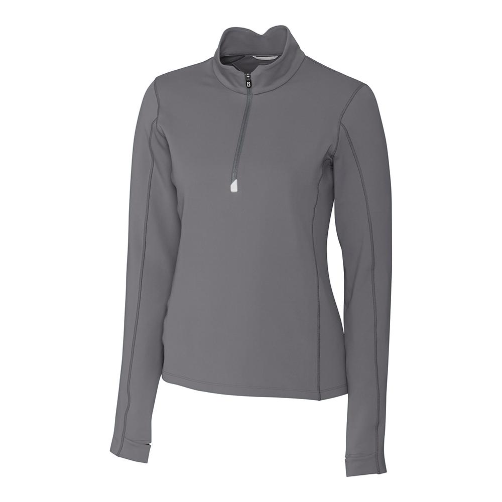 Custom Cutter & Buck Traverse Stretch Quarter Zip Pullover - Ladies