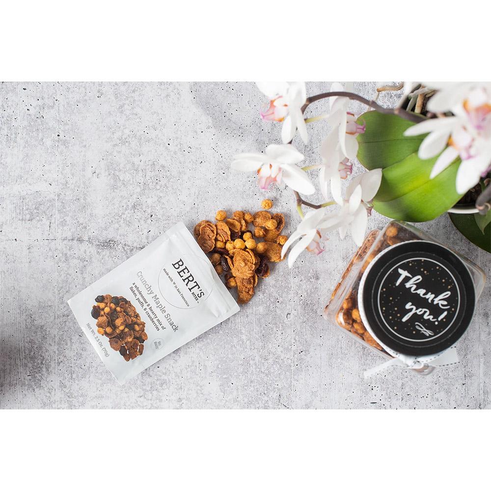 Bert's Bites Crunchy Maple Snack Gift Jar - Small