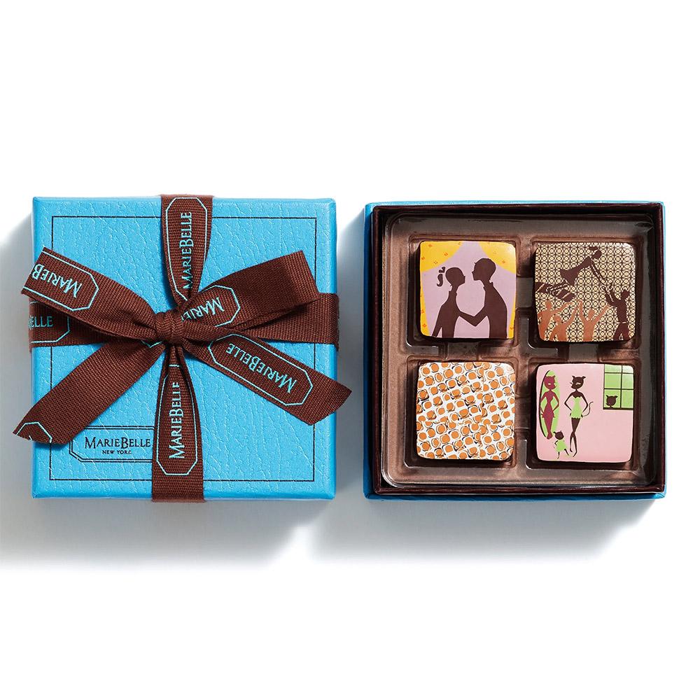 MarieBelle New York Chocolate Ganache - 4 pc