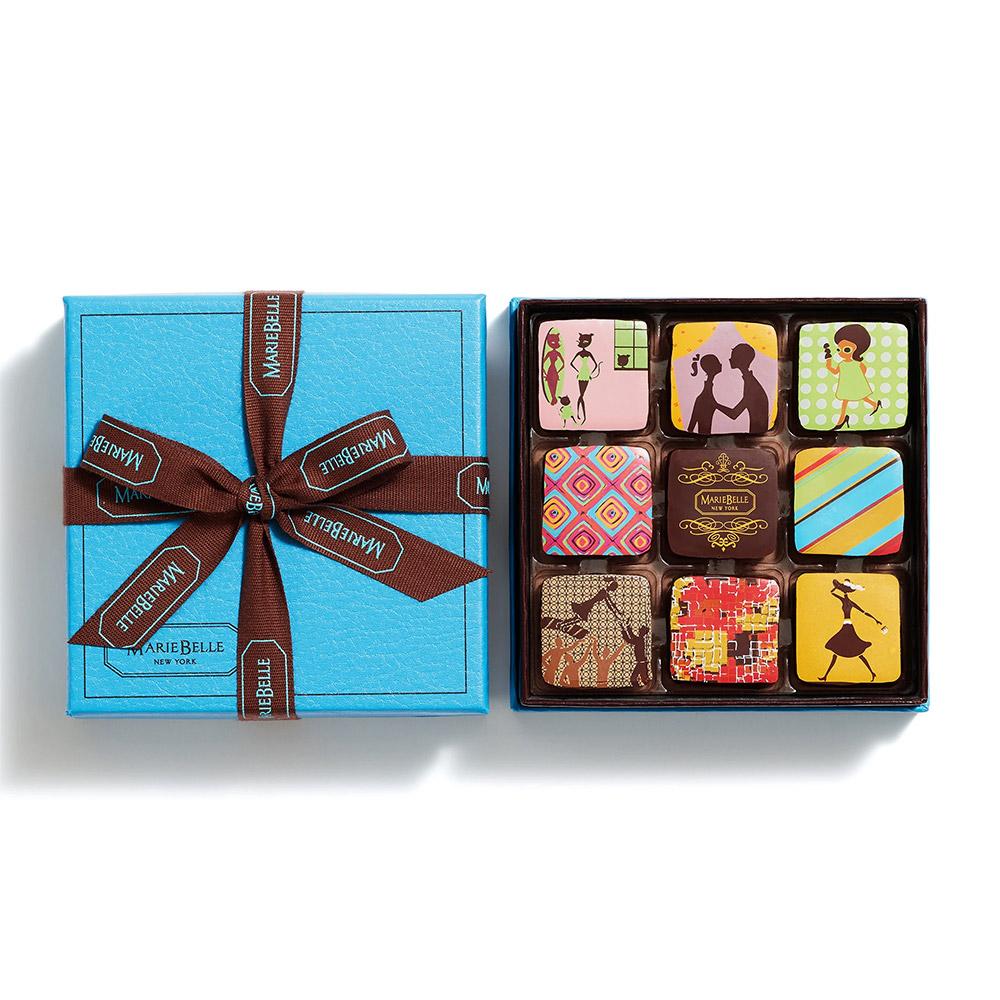 MarieBelle New York Chocolate Ganache - 9 pc
