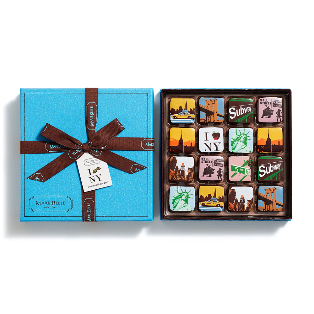 MarieBelle New York Chocolate Ganache Collection - 16 pc