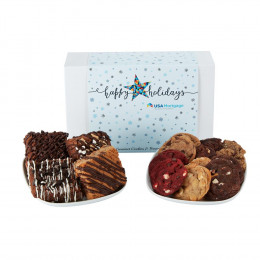 Fresh Baked Gourmet Brownies and Cookies Treat Box - Medium