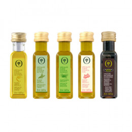 Sampler Set of 3 Flavored Olive Oils, Balsamic, and Grapefruit Vinegar