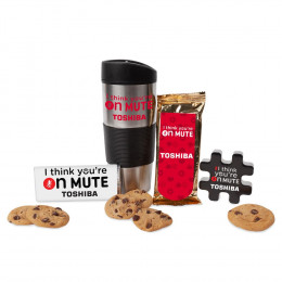 Custom I Think You're On Mute Tumbler with Snacks Mailer Kit