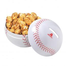 Custom Baseball Piggy Bank with Choice of Snack Fill