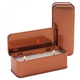 Custom Scented Copper Rectangular Candle