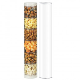 Custom Gourmet Popcorn 6-Flavor Sampler Tube – Large