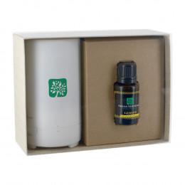Custom Electronic Diffuser w/ 15mL Dropper Bottle Essential Oil In Gift Box