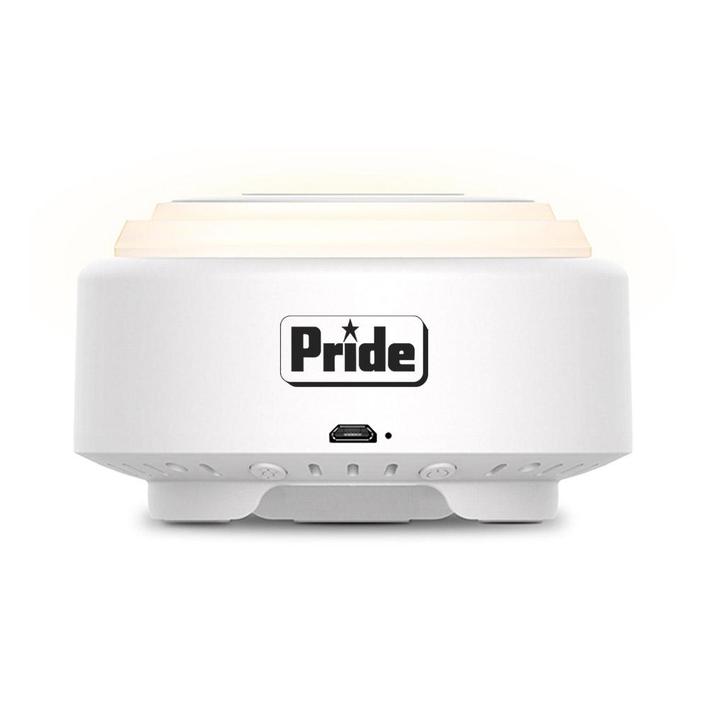Custom Night Light Bluetooth Speaker with Wireless Charging Pad