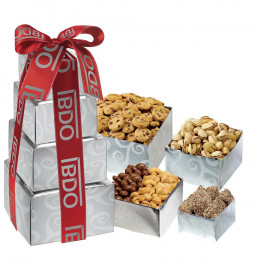 Classic Snacks and Treats Gift Box Tower